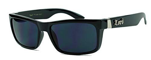 LOCS® Herren Sonnenbrille West Coast Gangsta Style schmal schwarz 21 (Eazy Locs E)