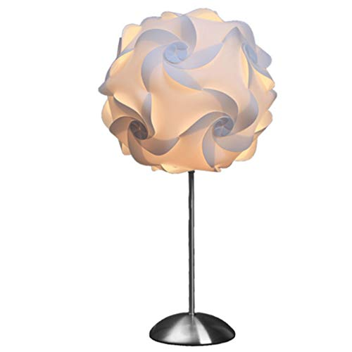 LED Tischleuchte, LED Lampe, Modernes Minimalistischen Design, 5W Warmweiß Licht, Creative Polypropylen Stahl LED Modellierung Lampe Perfekt Für Schlafzimmer Wohnzimmer (rostfreier Stahl) -