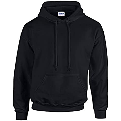 Gildan - Sudadera gruesa con capucha de combinación de tejidos Unisex