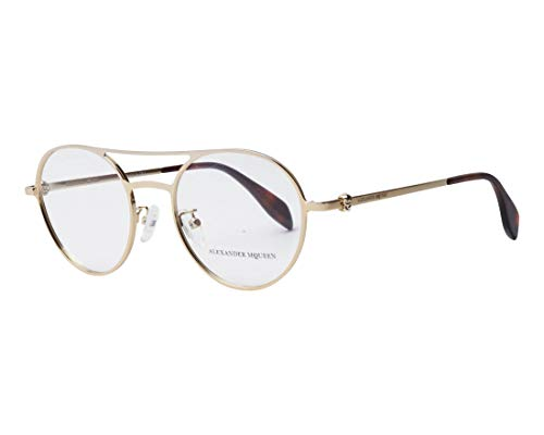Alexander McQueen Brille (AM-0175-O 003) Metall gold