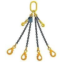 Cadena para levantamiento de piernas de 8 mm, 2 m con ganchos para acortar y ganchos para clevis