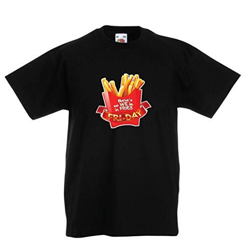en/Mädchen T-Shirt Es gibt Keine wir in Pommes Freitag Outfit Junk Food Liebhaber (14-15 Years Schwarz Mehrfarben) ()
