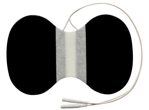 Electrodos para cuello conexión clavija - Parches TENS EMS especial cervicales - Para electroestimuladores conexión banana 2mm - Almohadillas calidad axio