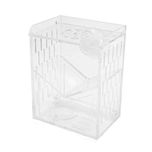 MiKi&Co 3.9x2.8x4.7 Zoll Klar Acryl Braten Box Klettern Haustiere Haus/Luft Einlass DE - Braten Luft
