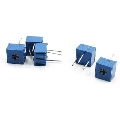 Sourcingmap a13082300ux1506 - 5pezzi 3362-501 500 ohm 503 cermet trimpot trimmer potenziometri - Cermet Trimmer Potenziometri