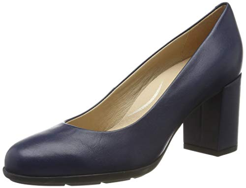Geox D New Annya a a, Scarpe con Tacco Donna, ((Blue C4000), 39 EU