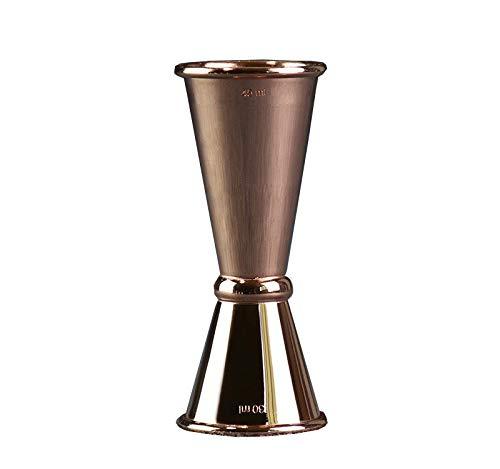Doseur à alcool double mesure de prise de vue 15/30 ml, 30/45 ml, 1 oz / 2 oz, or, argent, or rose FENGMING (Couleur : Silver, taille : 1oz/2oz)