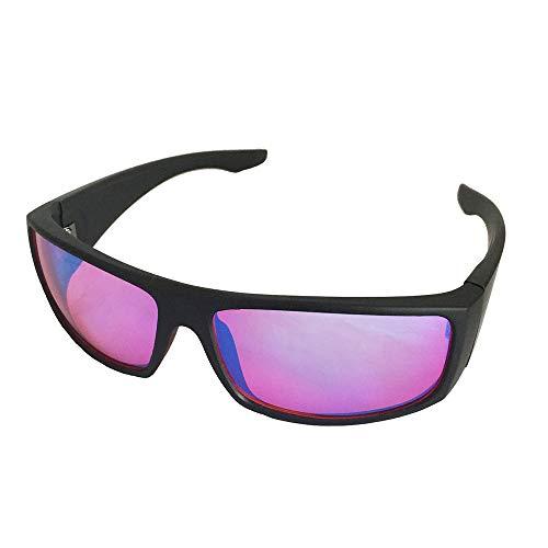 YOCC Farbenblinde Gläser Rot Grün Blindheit Mittelstarke Gläser für Farbstörungen Farbschwäche Rahmen Optische Gläser Art Construction Style
