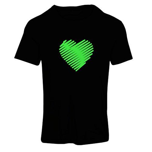 Frauen T-Shirt Stilvolle Herzen, ich liebe dich Geschenke Valentinstag Outfits (X-Large Schwarz (Ideen Kostüme Hobo)