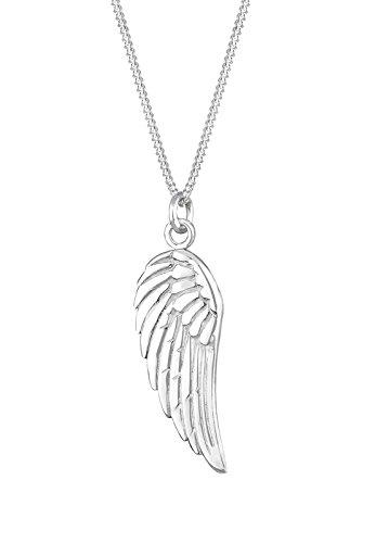 Elli Damen Halskette mit Flügel Symbol Religion Trend in 925 Sterling Silber 45 cm lang