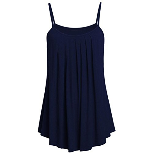 Womens Vest Tops, SHOBDW (S~6XL) Ladies Sexy Plus Size Loose Chiffon Camisole Solid Color Summer Sleeveless Short Tank Tops