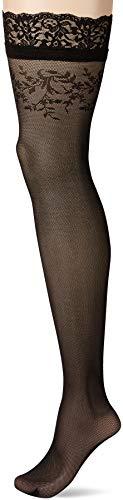 Fiore Damen SIMONA/GOLDEN LINE CLASSIC Halterlose Strümpfe, 30 DEN, Schwarz (Black 001), Large (Herstellergröße:4)