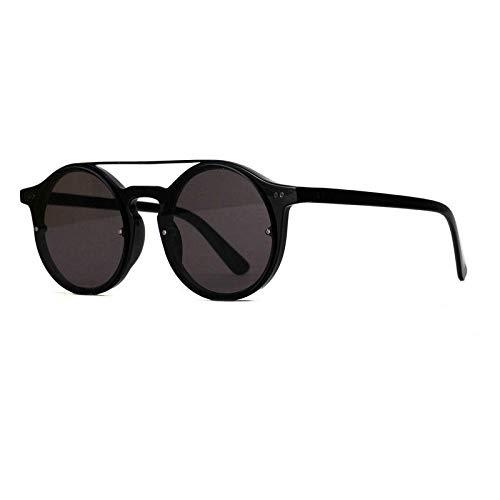 Berühmte Gast (MINCL) Neue X1340 Doppel Double Koreanische Version der Sonne Trend Retro-Sonnenbrille für Männer und Frauen Ocean Color Film Hip Hop Brille YQQ transparenten Rahmen Grauer Film @ Br