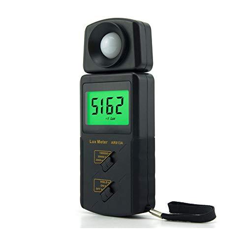 Lichtmesser Lichtmessgeräte Digital Beleuchtungslichtmesser Mit 100000 Lux 180 ° Drehen Sensorkopf, MAX/MIN, Hintergrundbeleuchtung, Data Hold & Storage