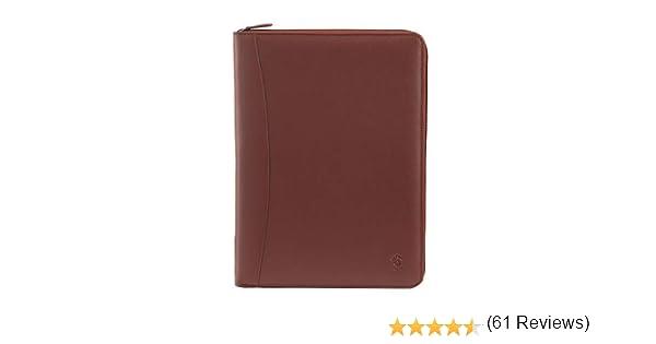 Serviette en cuir porte-documents et bloc-notes Nuvola Pelle Brun foncé 8031847120899