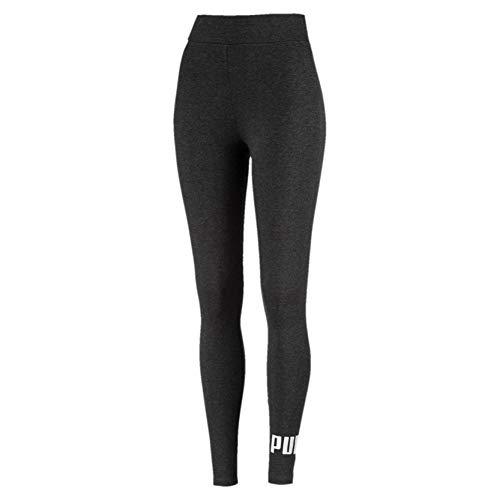 PUMA Damen ESS Logo Leggings Hose, Dark Gray Heather, M