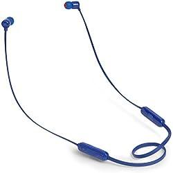 JBL T110BT - Écouteurs intra-auriculaires légers sans fil - Bluetooth - Avec commande pour appels - Autonomie jusqu'à 6 hrs - Bleu