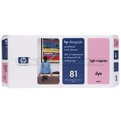 HP DesignJet 5000 - Original HP / C4955A / Nr. 81 / Druckkopf light Magenta & Druckkopfreiniger - (Light Druckkopf Magenta)