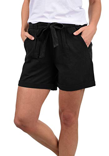 Cargo-jersey-shorts (DESIRES Lina Damen Chino Shorts Bermuda Kurze Hose, Größe:L, Farbe:Black (9000))