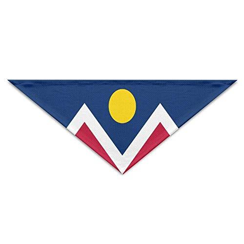 Kostüm Denver Verkleidung - Gxdchfj Pet Scarf Flag of Denver Bandana Triangle Neckerchief Bibs Scarfs Accessories for Pet