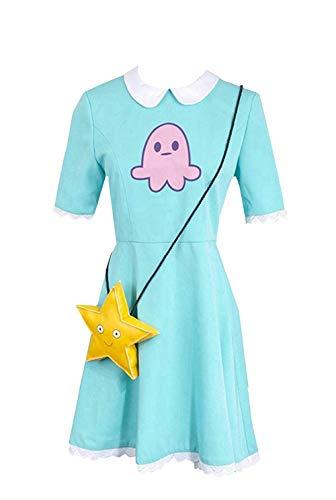I TRUE ME Mädchen Prinzessin Star Butterfly Cosplay Kostüm Kleid,L (Mädchen Star Kostüm)