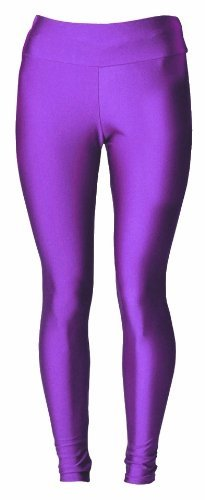 Low-cost High Waisted Shiny and Stretchy Leggings. Choice of colours in two sizes from 8 to 14