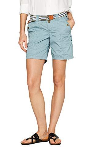 edc by ESPRIT Damen 039Cc1C002 Shorts, Grün (Dusty Green 335), W40(Herstellergröße: 40)