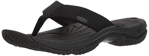 Preisvergleich Produktbild KEEN Men's Kona Flip-M Flat Sandal, Black/Steel Grey, 9 M US