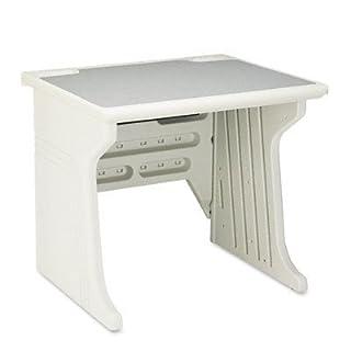 Iceberg Aspira Modular Workstation Table, 34w x 28d x 30h, Platinum, EA - ICE92203 by Iceberg