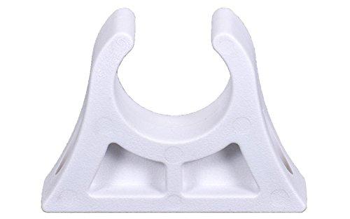 Clip 28 - 30 mm Angelruten Bootshaken Paddelhalter Weiß