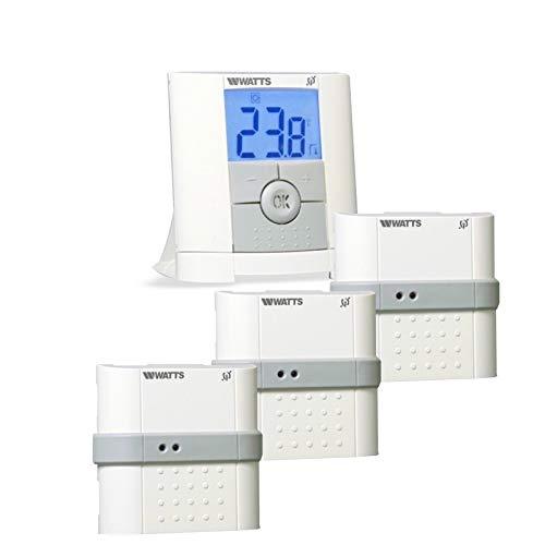 Thermostatschalter + 3x Unterputz Empfänger Temperaturregler mit Bodensensor