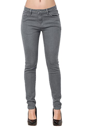 ZLZ Damen Jeanshose Zerrissen Ripped Jeans Loch Slim Hose (W30|EU42, Grau)