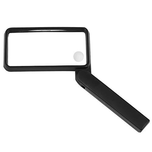 4-fach Vergrößerungsglas Quadrat Kind Ältere Personen Lesen Identifikation Werkzeug Griff Folding...