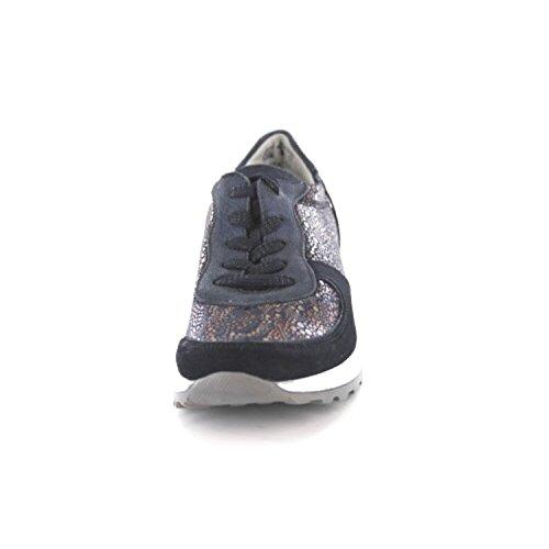 Waldläufer H64001 424 021/424 021, Chaussures À Lacets Noires Pour Femmes