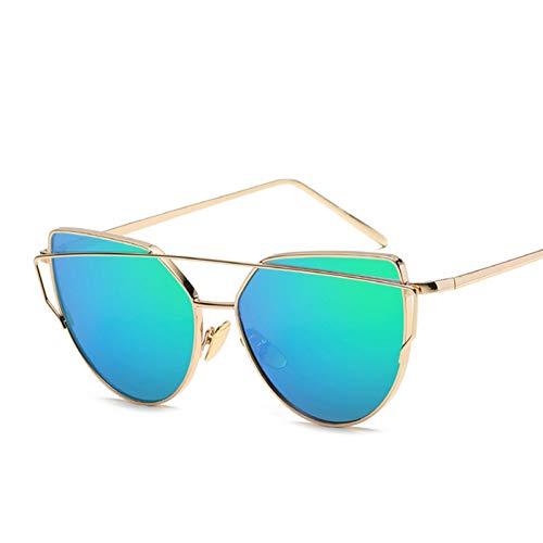Kjwsbb Vintage Marke Sonnenbrille Frauen Brille männer Spiegel Sonnenbrille weibliche Rose Gold Sonnenbrille