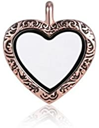 Andante rosa colgantes de oro para flotantes encantos pendientes medallones + Organzasäckchen