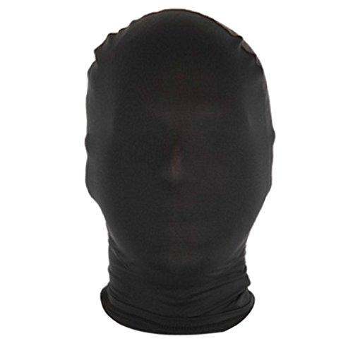 rty Spandex Zentai Kostüm All Mask / Hood Einheitsgröße - Schwarz ()