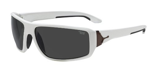 Cebe Angkor Sport Active 1500 Grey AR Category 3 Sunglasses - Shiny White/Bronze, Large by Cb