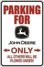 TinSIGNS Aluminiumschild Parking for John Deere Only, 20,3 x 30,5 cm, Metall (John Deere Parking)