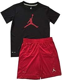 Nike Air Jordan - Juego de Camiseta y Pantalones Cortos para niño (Talla 4) 064770c15518f