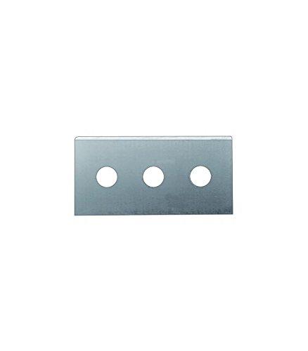 IBILI 708250 Set de 3 Lames de Rechange pour Racloir Vitrocéramique INOX, Argent, 19,4 x 8,2 x 0,4 cm