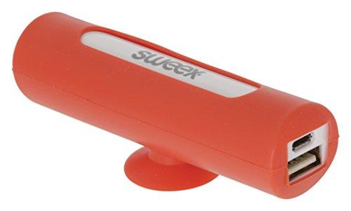 SWEEX Tragbare Powerbank 2500 mAh USB Rot