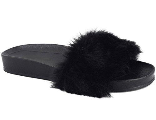 MaxMuxun Chaussures Femme Sandales Plats Slippers Pantoufles Pas Cher Platform EU 39 Motif No