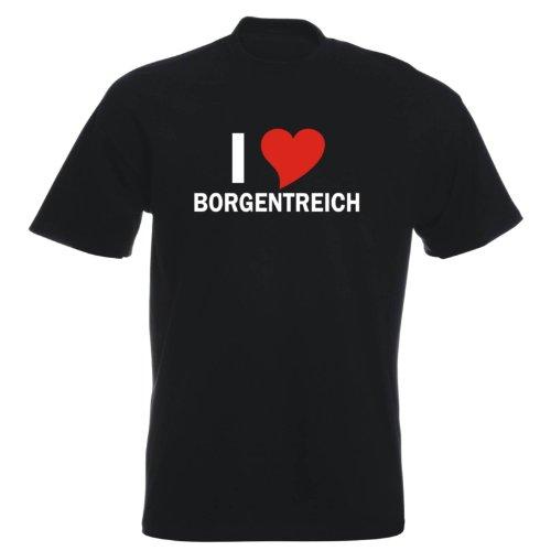 T-Shirt mit Städtenamen - i Love Borgentreich - Herren - unisex Schwarz