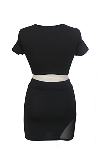 E-Girl femme Noir SY21127 robe de cocktail Noir