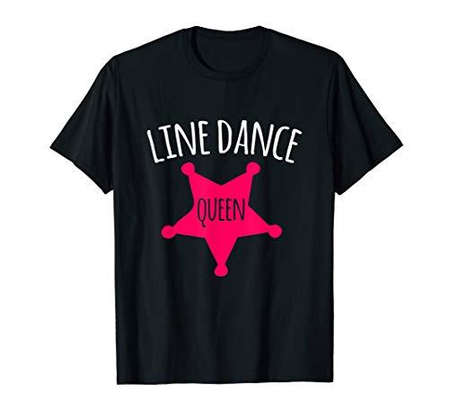 Dance Line Kostüm - I love Line Dance Queen Paartanz Westerntanz Country Music T-Shirt