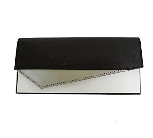 damen-geldborse-clutch-leder-schwarz-silber-clutch-wallet-black-silver