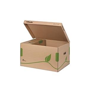 Esselte Ablage- und Transportbox, Obere Öffnung und integrierter Deckel, 100% recycelte Wellpappe, Naturbraun, Eco…