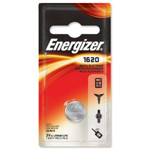 ENERGIZER CR1620 Battery Lithium for Camera Calculator or Pager 3V Ref PIP1 611323