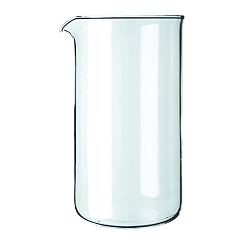 Bodum French Press Replacement 8 Cup Glass Beaker, Transparent , 1 L
